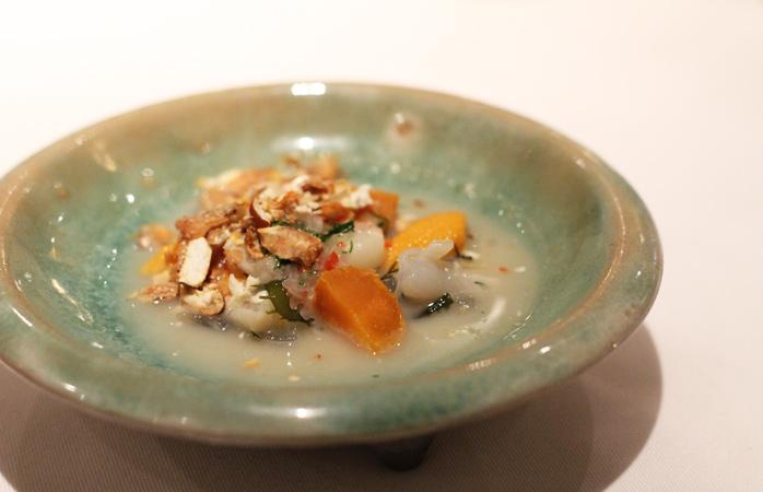 Le ceviche, un plat de poisson typique des régions côtières du Pérou, servi chez Astrid & Gaston