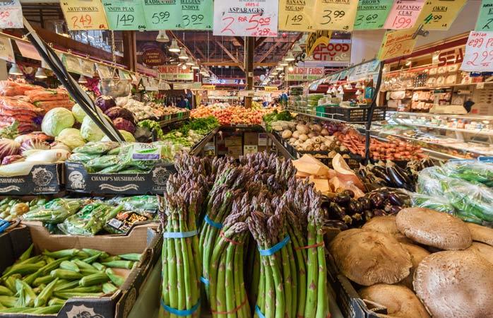 Le Public Market de Granville Island est le paradis des végétariens