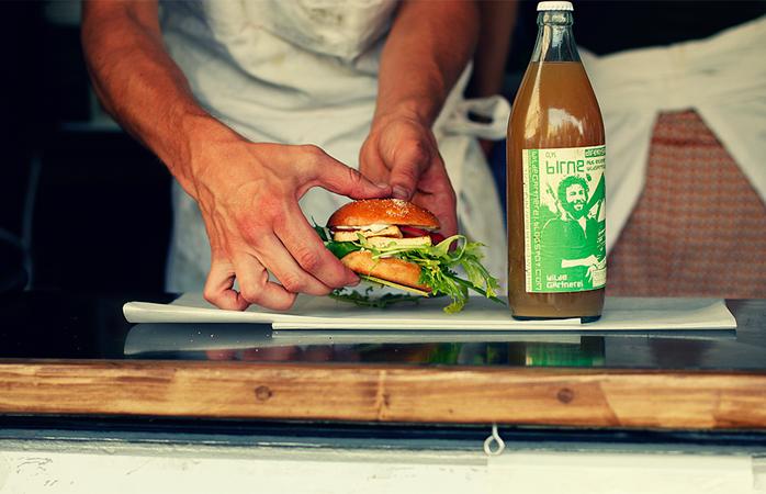 Burger végétalien à Berlin.