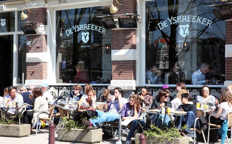 Les meilleures terrasses où manger à Amsterdam