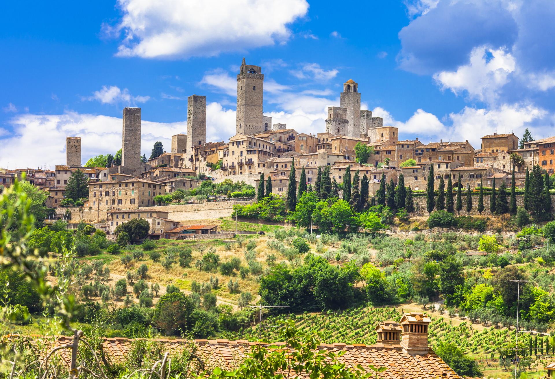 Quelques-unes des tours de San Gimignano