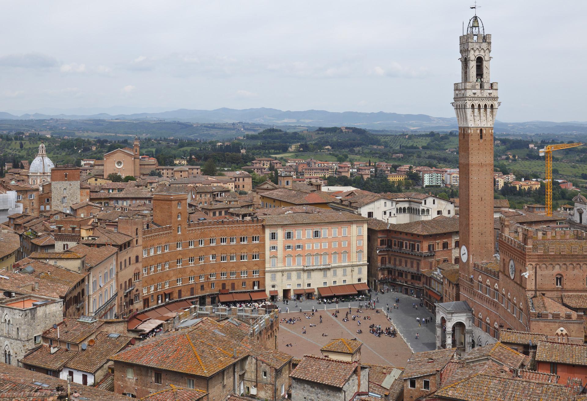 La Piazza del Campo, la belle place publique de Sienne