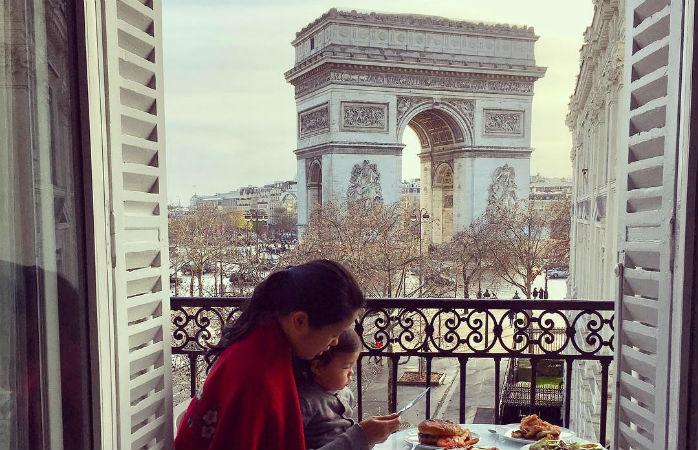 Hotel de luxe Paris tour Eiffel